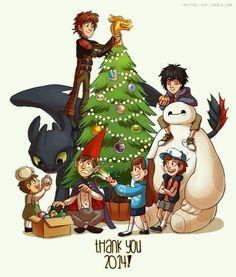 Toothless, baymax, dipper, Greg and wert