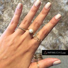 Mix de anéis que a gente achou lindo! ❤️ Monte o seu também: www.infinijoias.com INFINI Joias