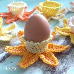 atty's: Crochet Daffodil Egg Cups