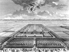 Bird's-Eye View of the Huis ter Nieuburch at Rijswijck 1697 Gemeentearchief, The Hague, Netherlands