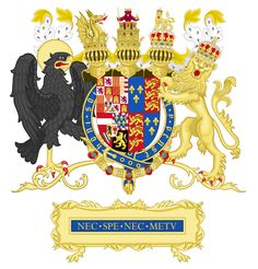 Full Ornamented Coat of arms of Philip II of Spain (1556–1558)