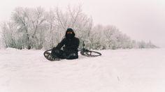 Winter skating by snow.sk
