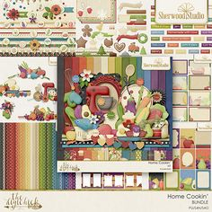 Digital scrapbooking kit from Sherwood Studio HOME COOKING http://www.thedigichick.com/shop/Home-Cookin-Bundle.html