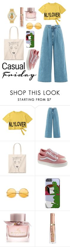 """""""my casual fri-yey"""" by salsabillasy on Polyvore featuring dVb Victoria Beckham, Vans, PèPè, Burberry, Betsey Johnson, casualoutfit and fashionset"""