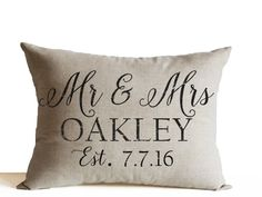 Amore Beaute Handmade Decorative Cushion Cover Mr Mrs Cushion Cover Custom Name Date Cushion Cover Personalised Pillow Covers Wedding Decor Pillow ...