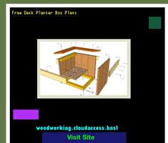 Free Deck Planter Box Plans 215637 - Woodworking Plans and Projects!