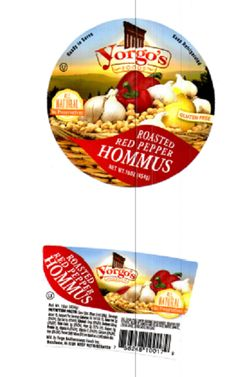 Yorgo Foods Inc is Recalling Various Flavors of Hommus Because of Possible Health Risk