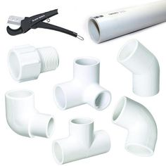 PVC Pipe Fort - materials by It's Great To Be Home, via Flickr