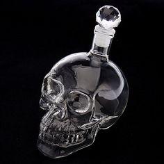 Caveira de Cristal Cabeça Forma Vinho bebendo Vodka Glass Bottle Decanter Novidade Presente – BRL R$ 28,31