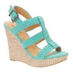 Turquoise braided rope wedge heeled sandals, Debenhams ADORABLE come on summer