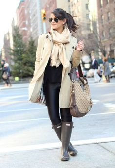 Love pairing a cute outfit with adorable rainboots when the weather starts…