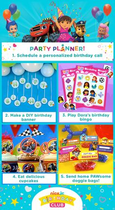 Rusty rivets nick jr birthday party invitations pinterest start your nick jr birthday party off with a personalized birthday phone call filmwisefo