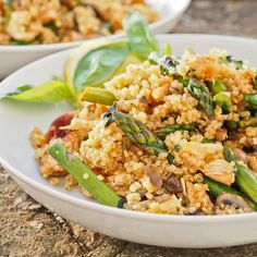 Quinoa with Paprika Chicken and Asparagus