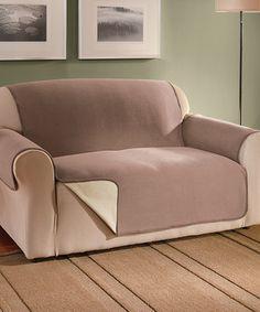 Beige Reversible Fleece Furniture Protector By Jeffrey Fabrics #
