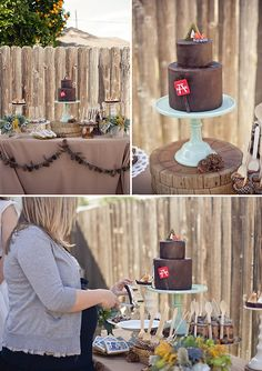 camping themed shower by Wedding Chicks : we could do a back packing/outdoor theme