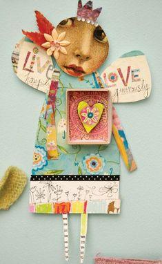 Top Stampington Posts of 2015 - Paper Assemblage Paper Art, Paper Crafts, Diy Crafts, Mixed Media Collage, Collage Art, Art Journal Pages, Art Journals, Paper Dolls, Art Dolls