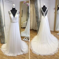 Sophia Tolli 'Erin'. Available in size 12. RRP £1395, now just £765! Call 01525 305 008 or email enquiries@lucyhartbridal.com.