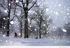 Awesome Happy new year saying and snow