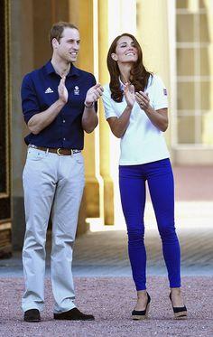 Dutchess of Cambridge (London Olympics), royal blue jeans