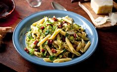 Penne with Brussels Sprouts, Chile and Pancetta by Melissa Clark