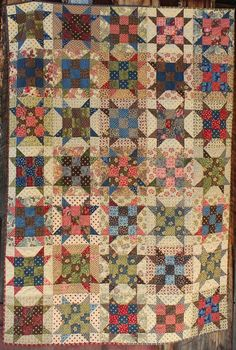 """""""Sister's Paint Box Quilt"""" A Bonnie Hunter free pattern using jelly roll fabrics from Barbara Brackman and Laundry Basket Quilts Old Quilts, Antique Quilts, Star Quilts, Vintage Quilts, Quilt Blocks, Star Blocks, Bonnie Hunter, Primitive Quilts, Jellyroll Quilts"""