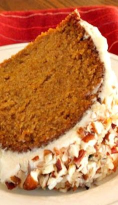 Cinderella Pumpkin Cake Recipe ~ 2 c. baking t.) can pumpkin t. Fall Desserts, Just Desserts, Delicious Desserts, Dessert Recipes, Yummy Food, Pumpkin Cake Recipes, Pumpkin Dessert, Pumpkin Bundt Cake, Food Cakes