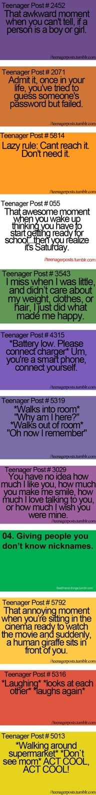 Funny Teenager Post And my friend and I made up nicknames for like everybody.... Faith...