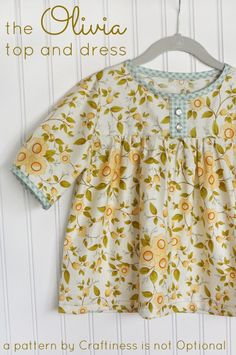 The Olivia Top and Dress Pattern by Craftiness is not Optional - I love this pattern! There is a giveaway too :)