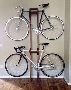 Garage Bike Storage Ideas Diy, Bike Storage Garage Ideas, Road Bike Storage Id. Diy Bike Rack, Bike Hanger, Bike Storage Rack, Storage Room, Wall Hanger, Hobby Box, Bike Parking Rack, Bike Storage Apartment, Outdoor Bike Storage