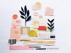 Julie Hamilton Creates Collages for Her 100 Day Project Paper Collage Art, Paper Art, Graphic Design Illustration, Illustration Art, Create Collage, Painted Paper, Art Plastique, Teaching Art, Moleskine