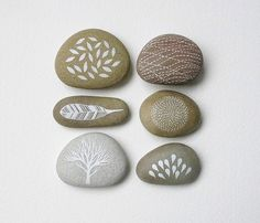Natasha Newton (the blackbird sings) paints these stones and I think they are delightful.