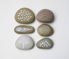 Delicate pebble art by Natasha Newton