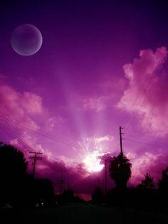 amazing purple sunset