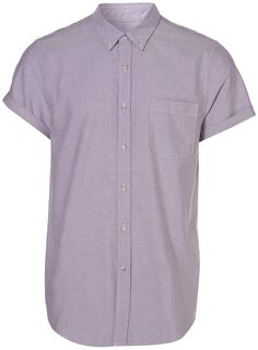 TOPMAN Lilac Short Sleeve Oxford