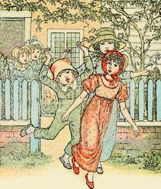Girls and boys come out to play - Mother Goose or The Old Nursery Rhymes, 1881