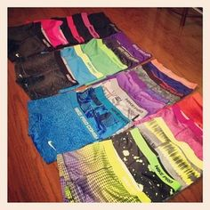 This Runner Has Established A Cute Collection  ...Heather Should Really Do Full-Time Modeling In These! #nike #nikepro #nikeprospandex #spandex #run #fit #workout #shorts