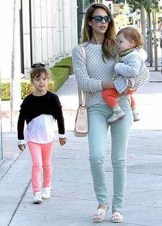 Jessica Alba & her kids