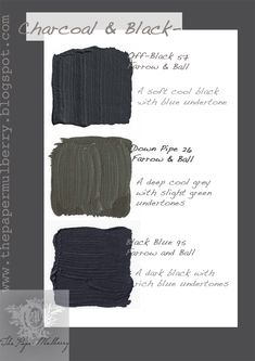 Dark grey paint shades - The Paper Mulberry: Exterior Paint Shades - Part 2 Exterior Shutter Colors, Best Exterior Paint, Exterior Paint Colors For House, Black Exterior, Interior Paint Colors, Paint Colors For Home, Paint Colours, Exterior Shutters, Exterior Shades