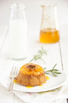 Butterscotch Clementine Upside-Down Cakes with Rosemary Orange Syrup - The Kitchen McCabe