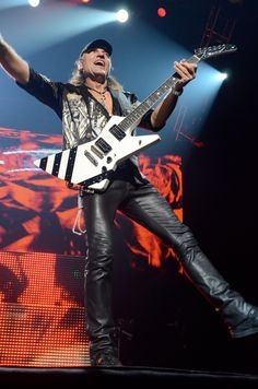 Scorpions on stage at the Zénith of Caen. The of April Quentin. Scorpions Live, Guitar Players, Rock And Roll, Leather Pants, Stage, Leather Jogger Pants, Rock Roll, Leather Joggers, Rock N Roll