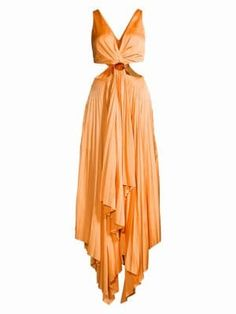 Significant Other Eden Drape Front Side Cutout Handkerchief Maxi Dress In Cantaloupe Significant Other, Insta Makeup, Wrap Dress, Summer Dresses, Clothes, Beauty, Collection, Cantaloupe, Oc