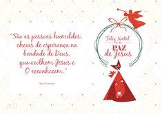 Cartão de natal | Religioso | Católico | Nascimento de Jesus Paper Toys, Place Cards, Place Card Holders, Topper, Download, 1, Merry Little Christmas, Happy Brithday, Good Morning Friends