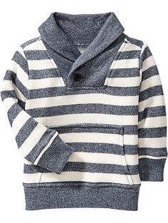 Striped Shawl-Collar Pullovers for Baby   Old Navy