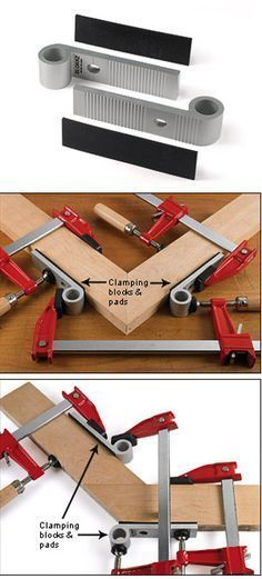 Blokkz Clamping Blocks - Attached to your work, these blocks provide a secure footing for clamps.