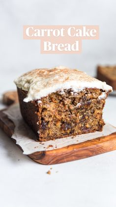 Fun Baking Recipes, Sweet Recipes, Snack Recipes, Dessert Recipes, Desserts, Loaf Recipes, Carrot Cake Bread, Bread Cake, Carrot Bread Recipe