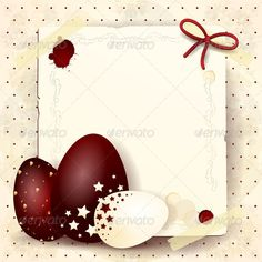 Easter Card with Chocolate Eggs
