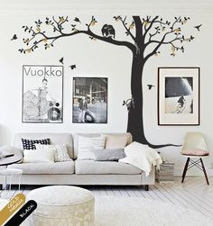 Tree Wall Decal nursery decor tree wall mural by HappyPlaceDecals, $89.00