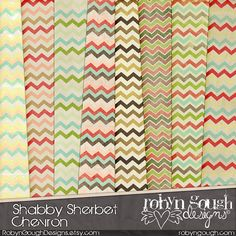 Shabby Chevron Digital Paper Pack - Chic Chevron Digital Scrapbook Paper Backgrounds by ClikchicDesign #photoshop #graphic #design by Clikchic Designs