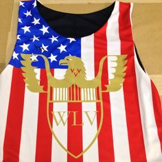 72d498f3e American flag pinnies personalized from Lightning Wear®. Made to order  custom jerseys in Maryland USA.