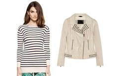 Pretty Little Liars Style:  Snag Aria's Superb Mix of Studs and Stripes
